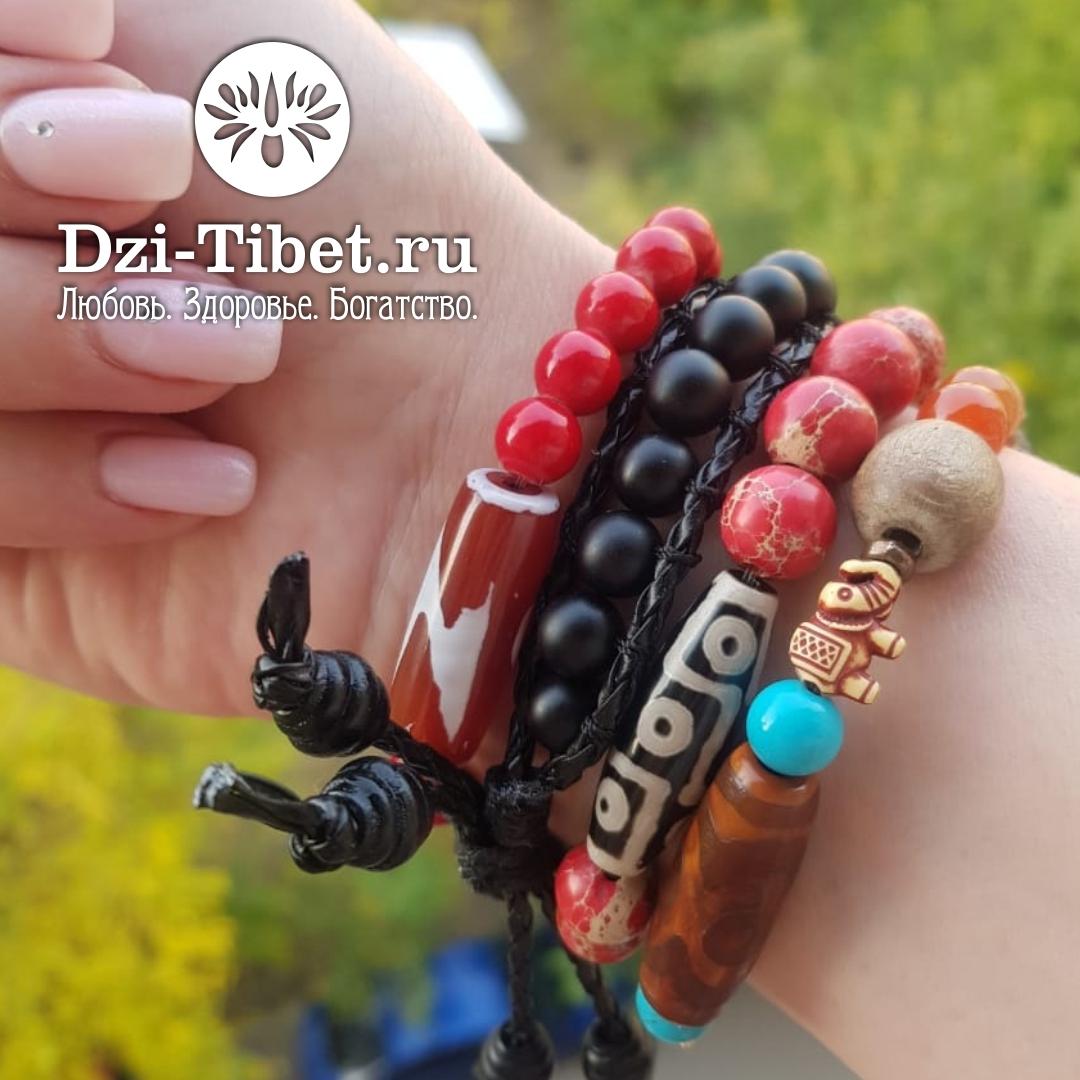 Браслет талисман Чан Лу (Chan Luu) с бусиной Дзи из Тибета
