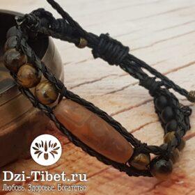 Талисман Chan Luu с бусиной Дзи из Тибета